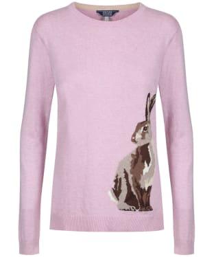 Women's Joules Miranda Crew Neck Jumper - Pink Hare