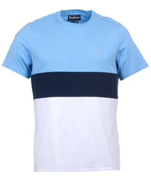 Men's Barbour Castle Panel Tee - Colorado Blue