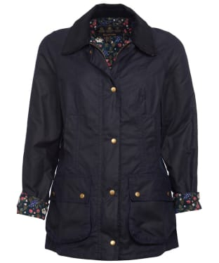 Women's Barbour Monteviot Wax Jacket - Navy / Blueberry