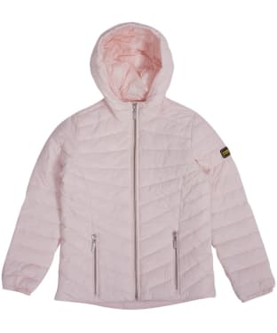 Girl's Barbour International Ringside Quilted Jacket, 10-15yrs - Cameo Pink
