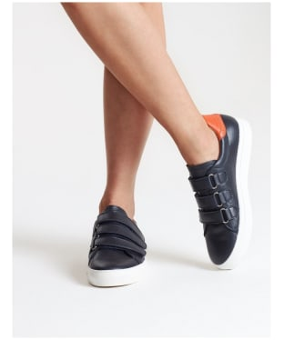 Women's Penelope Chilvers Pacha Leather Trainers - Navy
