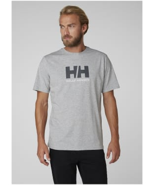 Men's Helly Hansen Logo T-Shirt - Grey Melange