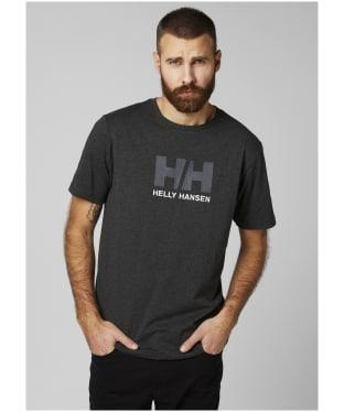 Men's Helly Hansen Logo T-Shirt - EBONY MELANGE