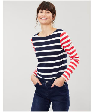 Women's Joules Harbour Top - Navy / Cream Stripe