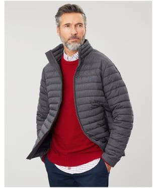 Men's Joules Go To Padded Jacket - Grey Metal