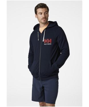Men's Helly Hansen Logo Full Zip Hoodie - Navy