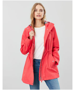Women's Joules Shoreside Waterproof Jacket - Poppy