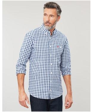 Men's Joules Hewney Classic Shirt - Blue Herringbone Check