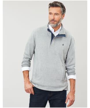 Men's Joules Deckside Half Zip Sweatshirt - Grey Marl