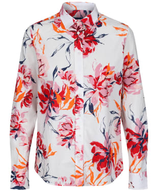 Women's GANT Peonies Cotton Voile Shirt - Eggshell