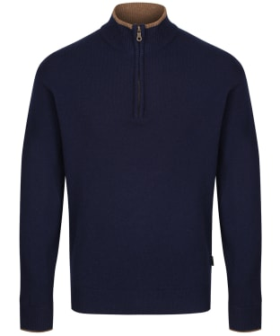 Men's Musto Shooting Zip Neck - PCF True Navy