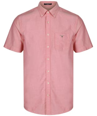 Men's GANT Regular Short Sleeved Oxford Shirt - Bright Red