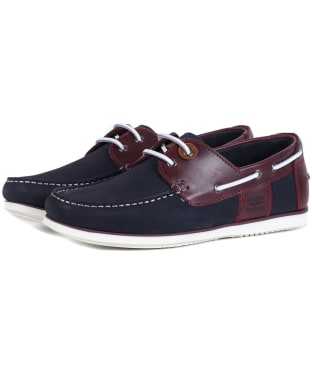 Men's Barbour Capstan Boat Shoes - Navy / Wine