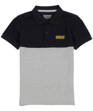 Boy's Barbour International Cotter Polo - Black / Grey