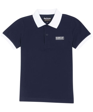 Boy's Barbour International Contrast Polo Shirt, 10-15yrs - Navy
