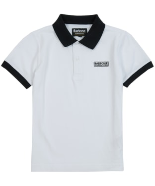 Boy's Barbour International Contrast Polo Shirt, 6-9yrs - White