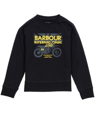 Boy's Barbour International Spark Crew Sweater, 6-9yrs - Black