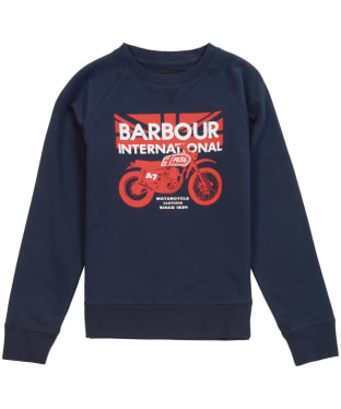 Boy's Barbour International Spark Crew Sweater, 6-9yrs - Navy