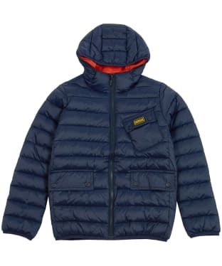Boy's Barbour International Ouston Hooded Quilted Jacket, 10-15yrs - Navy