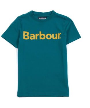 Boy's Barbour Logo Tee, 10-15yrs - Rich Green
