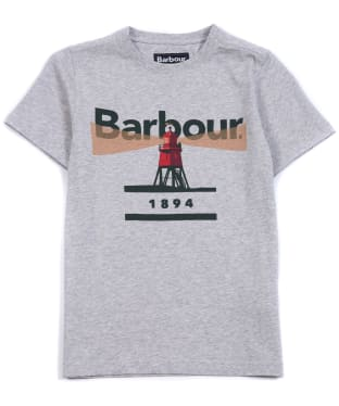 Boy's Barbour Lighthouse Tee, 10-15yrs - Grey Marl