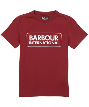 Boy's Barbour International Essential Large Logo Tee, 10-15yrs - Lava