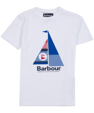 Boy's Barbour Sail Tee, 10-15yrs - White