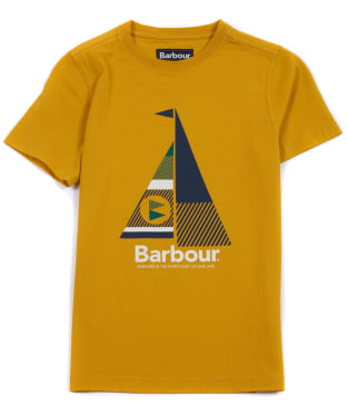 Boy's Barbour Sail Tee, 10-15yrs - Golden Yellow