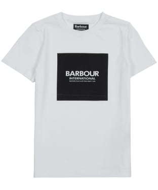 Boy's Barbour International Block Logo Tee, 6-9yrs - White