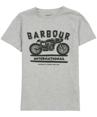 Boy's Barbour International Devise Tee, 6-9yrs - Grey Marl