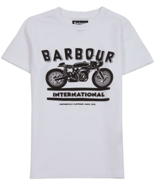Boy's Barbour International Devise Tee, 6-9yrs - White