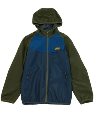 Boy's Barbour International Row Waterproof Jacket, 10-15yrs - Navy