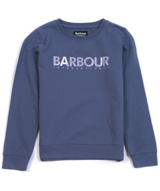Girl's Barbour International Fullcourt Crew - Sapphire