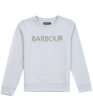 Girl's Barbour International Fullcourt Crew - Ice White