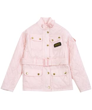 Girl's Barbour International Quilted Jacket, 2-9yrs - Cameo Pink
