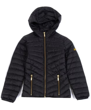 Girl's Barbour International Ringside Quilted Jacket, 10-15yrs - Black