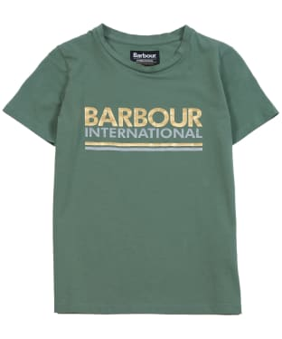 Girl's Barbour Distance Tee, 6-9yrs - Tussock Green