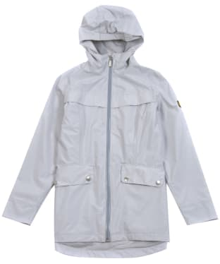 Girl's Barbour International Hold Waterproof Jacket, 6-9yrs - Ice White
