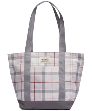 Women's Barbour Kirkaldy Tote Bag - Platinum Tartan