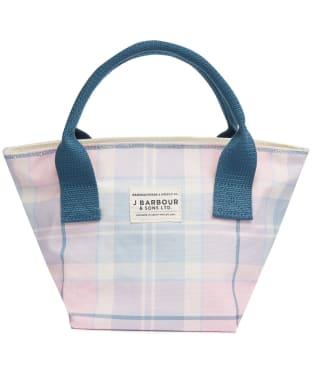 Women's Barbour Leathen Tote Bag - BLOSSOM TARTAN
