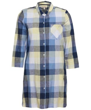 Women's Barbour Promenade Dress - Skyline Blue Check