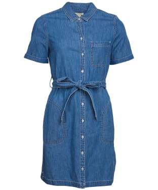 Women's Barbour Seaboard Denim Dress - Mid Wash