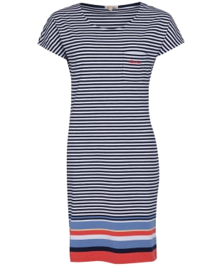 Women's Barbour Harewood Stripe Dress - Navy