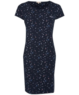 Women's Barbour Harewood Print Dress - Navy Coast Print