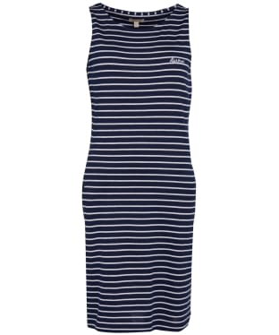 Women's Barbour Dalmore Stripe Dress - Navy / White