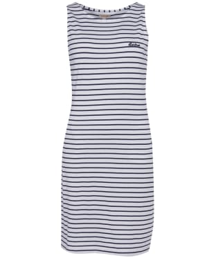 Women's Barbour Dalmore Stripe Dress - White / Navy