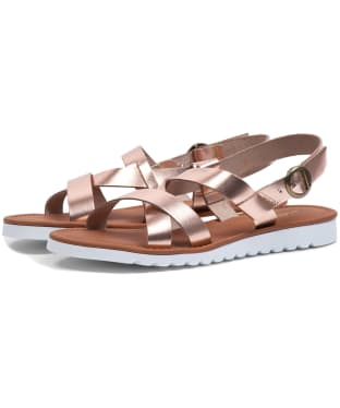 Women's Barbour Sandside Leather Sandals - Rose Gold