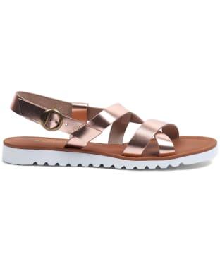 Women's Barbour Sandside Leather Sandals - Rose Gold