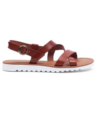 Women's Barbour Sandside Leather Sandals - Dark Tan