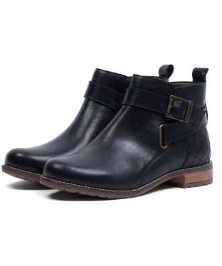 Women's Barbour Jane Leather Ankle Boots - Black